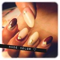 nude color♡ #y_u_m_e_ #ネイルブック