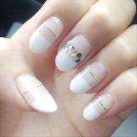 --White×Silver-- #ホワイト #mjjejemi #ネイルブック