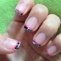 Crack nail tip #パーティー #ハンド #フレンチ #ブラック #マニキュア #セルフネイル #Abby Perez Caballero #ネイルブック