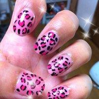 Pink leopard #アニマル柄 #マニキュア #セルフネイル #mimigona #ネイルブック