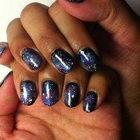 Space nail . Photo cant show how beautifull it is . I hope you enjoy Space nail simple design to do. #夏 #ハンド #マニキュア #セルフネイル #mimigona #ネイルブック