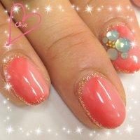 #Nailbook #夏 #ピンク #ジェル #お客様 #Chie Yamamoto #ネイルブック