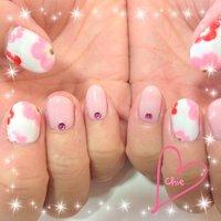 #Nailbook #フラワー #ピンク #ジェル #お客様 #Chie Yamamoto #ネイルブック