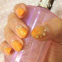 右手です。 #オレンジ #セルフネイル #mako_loves #ネイルブック