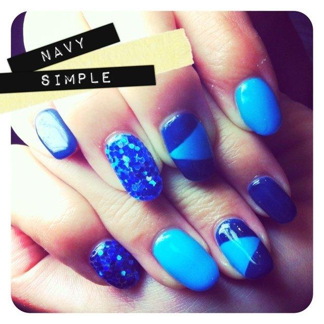 ▲blue × cerulean blue▲▲ #ブルー #y_u_m_e_ #ネイルブック