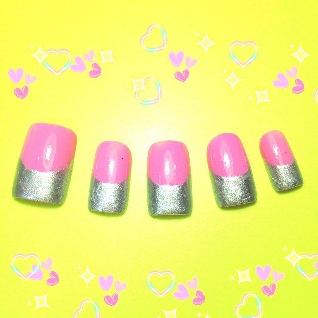 中学の時に作ったチップ集。 #フレンチ #ピンク #セルフネイル #Hitomi Ohyama #ネイルブック