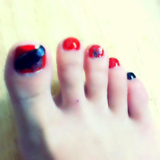 赤×黒大好きです(´ω`) #レッド #amioikenn #ネイルブック
