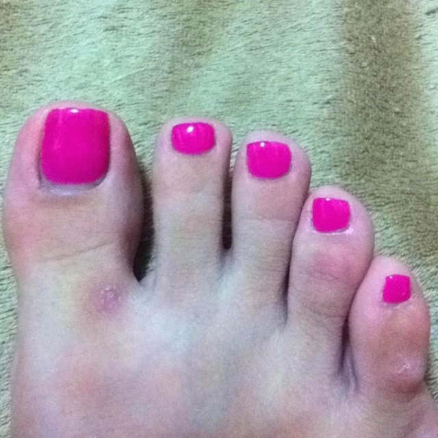 FOOTは単色塗りが好きです♡ #フット #ワンカラー #ピンク #ジェル #セルフネイル #かおり(板橋本町) #ネイルブック