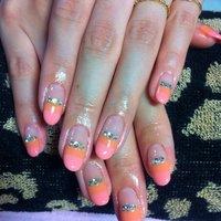 お客様ネイルやぁ!手がキレイって、羨ましー✨ #夏 #ハンド #ピンク #ジェル #お客様 #Oshima Maiko #ネイルブック