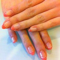 人気色ピンクのフレンチ #オフィス #ハンド #フレンチ #ピンク #ジェル #お客様 #シエル金沢市(金谷和美) #ネイルブック