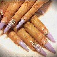 過去nail。 hand。  #ハンド #変形フレンチ #パープル #スカルプチュア #sexx_7 #ネイルブック