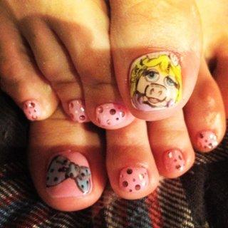ミス・ピギーNail♡ #ピンク #お客様 #atelierBunBun #ネイルブック