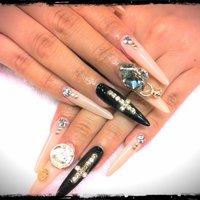 過去nail。 hand。  #ハンド #デコ #ベージュ #スカルプチュア #sexx_7 #ネイルブック