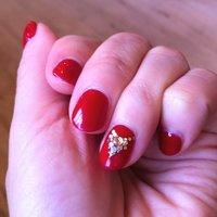 短めの爪に真っ赤☆ オリエンタルな雰囲気に… #レッド #DOLL20040604 #ネイルブック