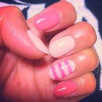 カラージェル3色。美味しそうな色♡ #ボーダー #ピンク #yummi__M #ネイルブック