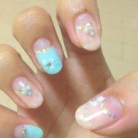 ダイタイネイル꒰ू๑͒•௰ू•๑͒꒱ポイントに3Dのお花ෆ⃛ #オフィス #ピンク #syoko_ardija #ネイルブック