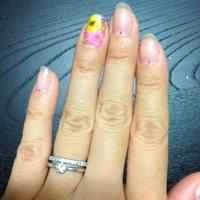 初めての押し花♡ #フラワー #ピンク #セルフネイル #mg_yyyy #ネイルブック