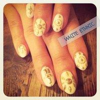 white nail♥ethnic #ホワイト #y_u_m_e_ #ネイルブック
