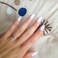 シンプル、お星様ネイル☆ #ホワイト #snow_white_1018 #ネイルブック