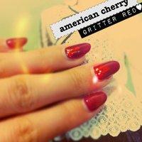 americn cherry red♥ sankaku horo!. #レッド #y_u_m_e_ #ネイルブック