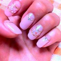 シェルのダブルフレンチ♥ #ピンク #yummi__M #ネイルブック