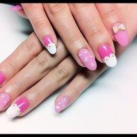 レースアートネイル*** #ピンク #お客様 #Mai #ネイルブック