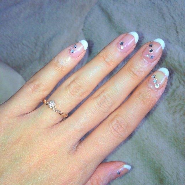 自分の結婚式用に❤ #ブライダル #フレンチ #snow_white_1018 #ネイルブック