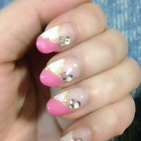ピンク&ホワイト♫ #k_keiko #ネイルブック