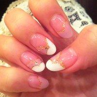 モコモコフレンチネイル(*^^*)ホワイト×ピンク #s2asukas2 #ネイルブック