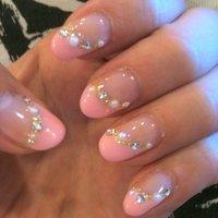 ピンク&ゴールド♫パール付き♥ #k_keiko #ネイルブック