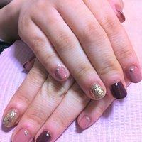 カラー希望のお客様⭐ちび爪でも大人に! #Oshima Maiko #ネイルブック
