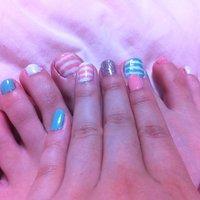 Summer nail #ka0ringo #ネイルブック