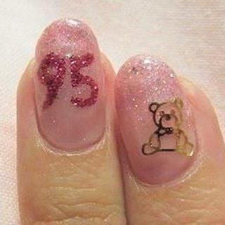 ピンク☆クマ #eming95 #ネイルブック