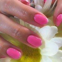 春のピンクネイル♪ #春 #オールシーズン #入学式 #シンプル #ショート #ピンク #パステル #ビビッド #ジェル #お客様 #tarrnail #ネイルブック