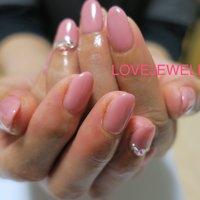 50代のマダム様ネイル‼︎ #春 #旅行 #オフィス #ハンド #ワンカラー #3D #ショート #ピンク #ジェル #lovejewelry nail #ネイルブック