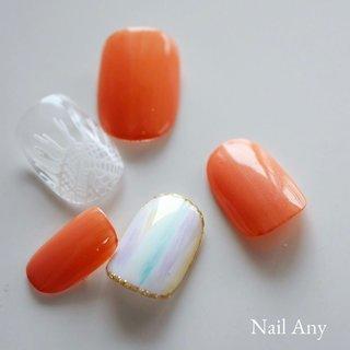 fringe☺︎ カラーを左右で非対称にしても可愛いかも♡ オレンジと黄色とか🙂 春だしね 派手にしましょ! . . #nail#nails#nailany#sunshinebabe#ネイル#ジェルネイル #ネイルデザイン#オフィスネイル#シンプルネイル#スワロフスキー#美甲#네일#中百舌鳥ネイルサロン#なかもずネイルサロン#なかもず#中百舌鳥 #堺#初芝#北野田#自爪を削らない#パラジェル#爪育#フリンジネイル#ボタニカルネイル #春ネイル#キャンペーンネイル#ネイルチップ#クロッシェアート #春 #夏 #パーティー #女子会 #シンプル #シースルー #タイダイ #ボタニカル #ショート #ホワイト #オレンジ #パステル #ジェル #お客様 #Nail Any ネイルエニー #ネイルブック