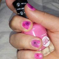 いただいた蛍光めのピンクにピンクラメとネイルシールで仕上げました°ʚ(*´꒳`*)ɞ° #ハンド #ラメ #ショート #ピンク #ビビッド #マニキュア #5a0r1 #ネイルブック
