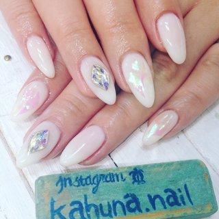 デカパーツ♡オーロラ #kahuna Nail #ネイルブック