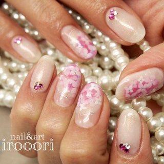 ピンクの紫陽花♪ アジサイネイル大人気! #梅雨 #オフィス #デート #女子会 #ハンド #フラワー #ホワイト #ピンク #パープル #ジェル #イロオリ #ネイルブック