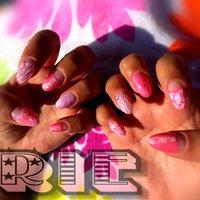 初shellnailに挑戦❤ 𓇼海っぽく😘 #夏 #海 #シェル #タイダイ #ミディアム #ピンク #ジェル #セルフネイル #pinky73 #ネイルブック