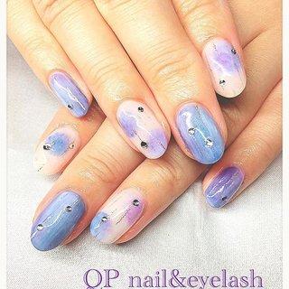 お客様ネイル☆ いつもありがとうございます!  6月のアジサイ風nail ほんわか紫が可愛い^ ^  #QP nail&eyelash #ネイルブック
