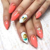 #オレンジ #ネオンカラー #sachi☆ #ネイルブック