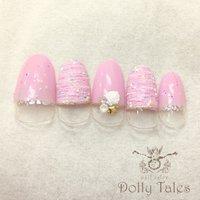 *ジェルプラン* #シェル #アイシング #ピンク #DollyTales_nail #ネイルブック