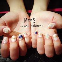 ♡天然石♡ #M∞S〜nail salon〜 #ネイルブック