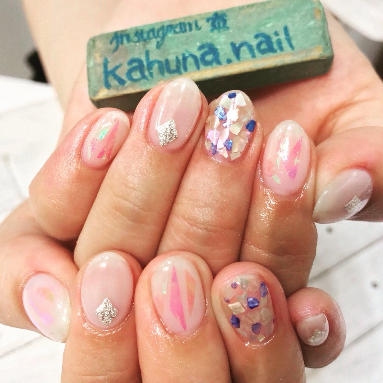 シェルうめ♡ #kahuna Nail #ネイルブック