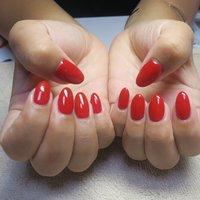 #ワンカラー #ワンカラーネイル #ワンカラー3000円#赤ネイル #rednails #夏 #海 #浴衣 #デート #ハンド #ワンカラー #ショート #レッド #ジェル #lovejewelry nail #ネイルブック