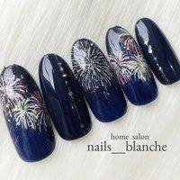 夏。花火の季節。浴衣デートに(o^^o)  #ネイルアート #ネイルデザイン #ジェルネイル #ネイルサロン #nail #nails #nailart #nailswag #nailswag #nails #nail #footnail #newnail #gelnail #nailart #pinknail #ネイルサロン #ネイルアート #ネイル #ネイルデザイン#恵那市ネイルサロン #シンプルネイル #大人ネイル #大人かわいい #beauty #cute #nailartclub#自宅ネイルサロン#中津川市ネイルサロン#瑞浪市ネイルサロン#nailbook#夏ネイル#ネイルブック#フットネイル#花火ネイル#和ネイル #夏 #浴衣 #デート #ハンド #シンプル #グラデーション #ラメ #ワンカラー #和 #ミディアム #ブルー #ネイビー #ゴールド #ジェル #ネイルチップ #nails___blanche / yuka #ネイルブック