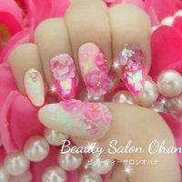 #beautysalonohana #newnail #nailchange #staffnail #pinknail #3dnails #auroranails #horogramnails #gelnails #shortnails #rosenails #beautysalon_ohana #ネイルブック