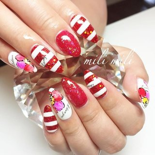 . 赤のグリッター×ホロ。 キラキラ可愛い元気の出る夏ネイル! 自爪ロングのお客様♡ 中指あと少し~(。 ・`ω・´)! #nail#nails#nailart#instanails#instanail#nailstagram#summernails#glitternails#hologramnails#bordernails#flowernails#ネイル#夏ネイル#グリッターネイル#ラメネイル#ホロネイル#ホログラムネイル#ボーダーネイル#フラワーネイル#派手ネイル#おしゃれ#可愛いネイル#鹿児島#鹿屋#都城#志布志#志布志ネイル#志布志脱毛#milimili #夏 #オールシーズン #海 #パーティー #ハンド #ラメ #ホログラム #フラワー #ボーダー #ロング #ホワイト #レッド #ジェル #お客様 #milimili #ネイルブック