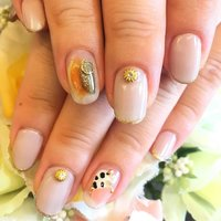 大人気のモアジェル# 52 #ネイル#nail#nails#ネイルアート#ジェルネイル#防府市#防府市ネイルサロン#nailsalontroubadour#モアジェル #ハンド #グリーン #グレージュ #ジェル #お客様 #troubadour.nail #ネイルブック